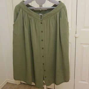 Army Green Forever 21 Skirt sz M